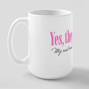 Yes theyre fake Large Mug