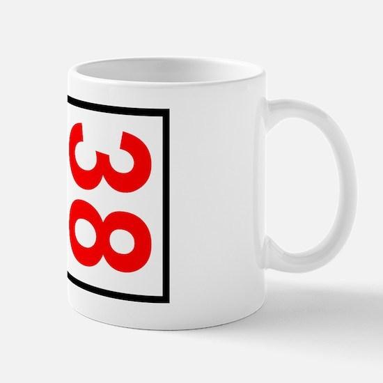 38 Autocross Number Plates Mug
