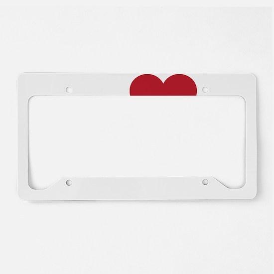 I Love Mobile Alabama License Plate Holder