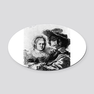 Rembrandt and his wife Saskia - Rembrandt - 1636 O