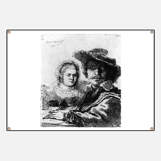 Rembrandt and his wife Saskia - Rembrandt - 1636 B