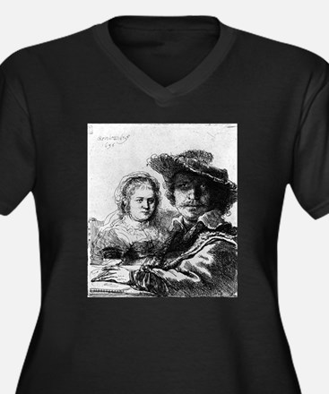 Rembrandt and his wife Saskia - Rembrandt - 1636 W