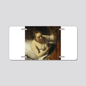 A Woman in Bed - Rembrandt - c1634 Aluminum Licens
