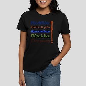 Multilingual Recorder Women's Dark T-Shirt