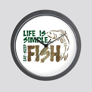 Life Is Simple...FISH Wall Clock
