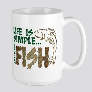 Life Is Simple...FISH Large Mug