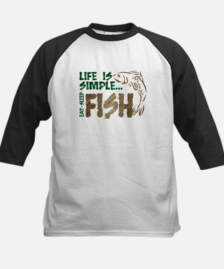 Life Is Simple...FISH Kids Baseball Jersey