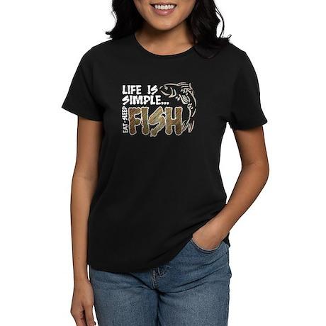 Life Is Simple...FISH Women's Dark T-Shirt