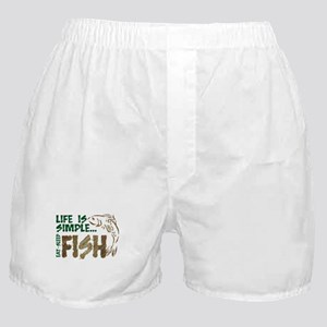 Life Is Simple...FISH Boxer Shorts