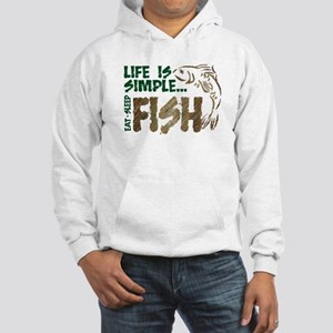 Life Is Simple...FISH Hooded Sweatshirt