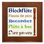 Multilingual Recorder Framed Tile