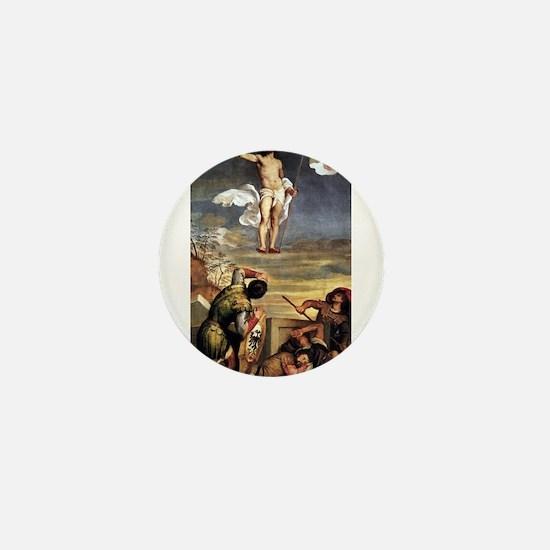 The Resurrection - Titian - c1542 Mini Button