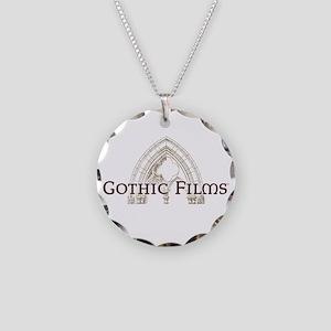 Gothic Films Dark Necklace Circle Charm