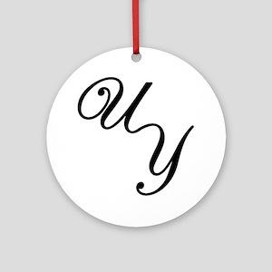 UY Logo Large Round Ornament