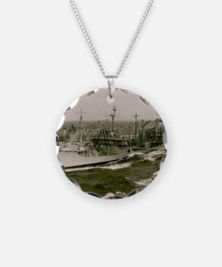 uss nantahala framed panel p Necklace