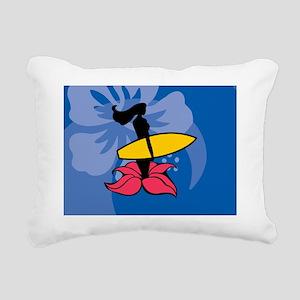 Wahine Rectangular Hitch Rectangular Canvas Pillow