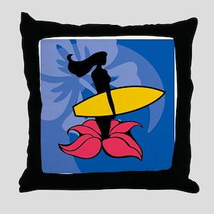 Wahine Mylar Balloon Throw Pillow