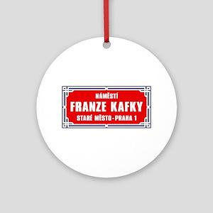 Námestí Franze Kafky, Prague (CZ) Ornament (Round)