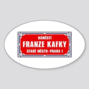 Námestí Franze Kafky, Prague (CZ) Oval Sticker