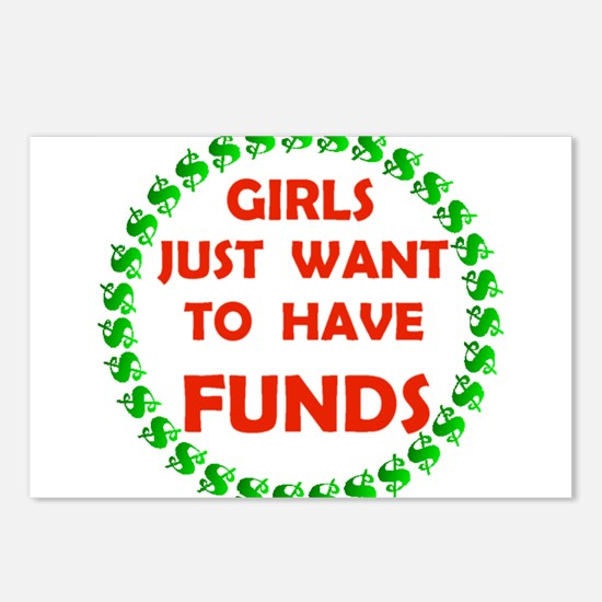 GIRLS WANT FUNDS Postcards (Package of 8)