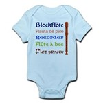 Multilingual Recorder Infant Bodysuit