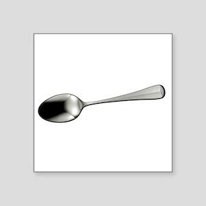 """I Sort Spoons - DARK Square Sticker 3"""" x 3"""""""