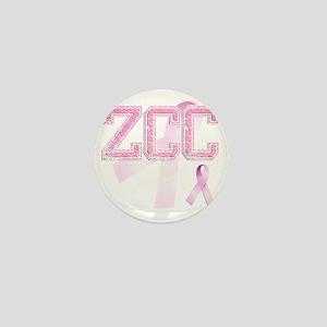 ZCC initials, Pink Ribbon, Mini Button