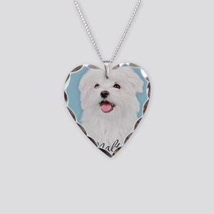 Cute Maltese Necklace Heart Charm