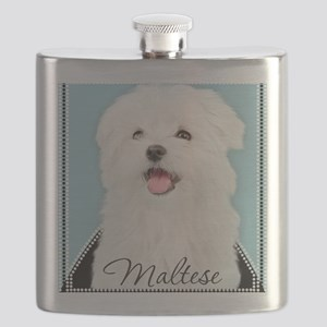 Cute Maltese Flask