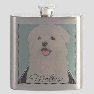 Cute Maltese Flask