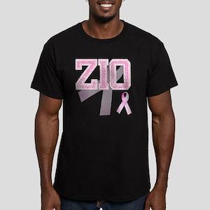ZIO initials, Pink Rib Men's Fitted T-Shirt (dark)