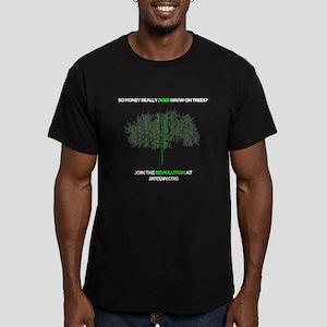 Money Grows On Trees- Bitcoin - Black T-Shirt