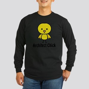 Architect Chick Long Sleeve Dark T-Shirt