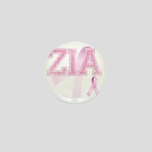 ZIA initials, Pink Ribbon, Mini Button