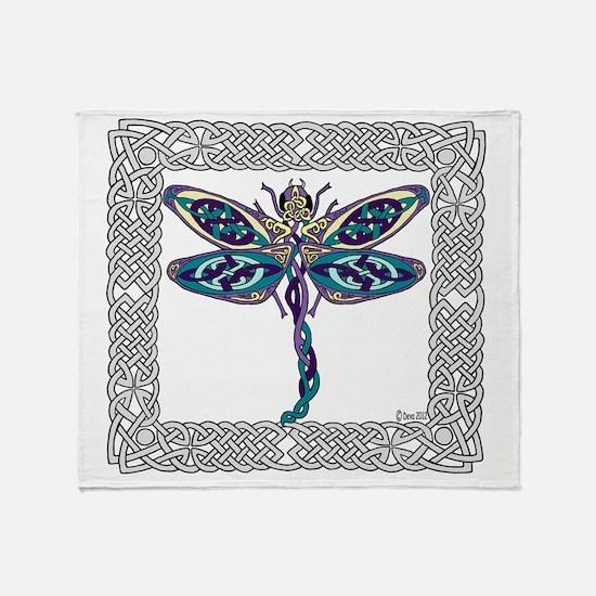 Dragonfly Shower Curtain Throw Blanket