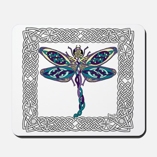 Dragonfly Shower Curtain Mousepad