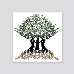 "Tree of Life Shower Square Sticker 3"" x 3"""