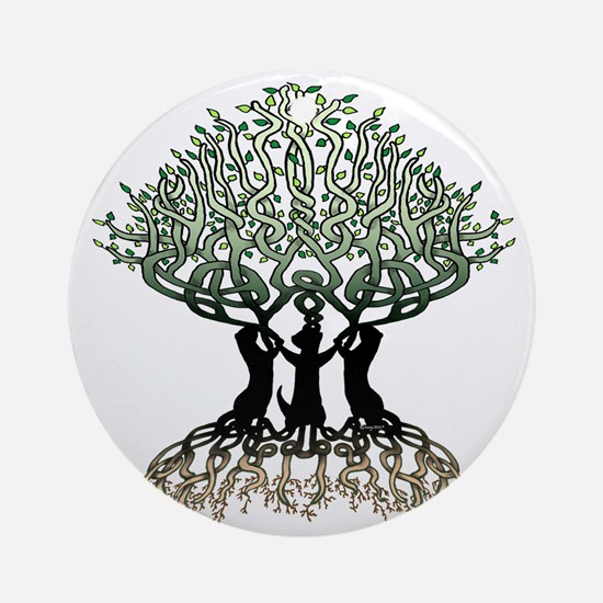 Tree of Life Shower Round Ornament