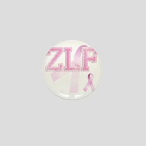 ZLF initials, Pink Ribbon, Mini Button