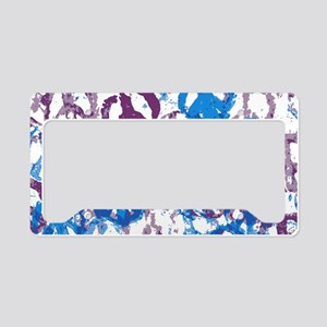 pillow case cool tone peace s License Plate Holder