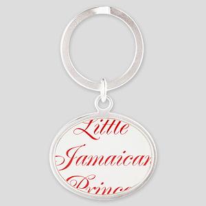 Little Jamaican Princess Oval Keychain