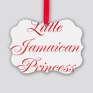 Little Jamaican Princess Picture Ornament