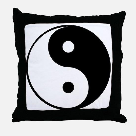 Yin and Yang Throw Pillow