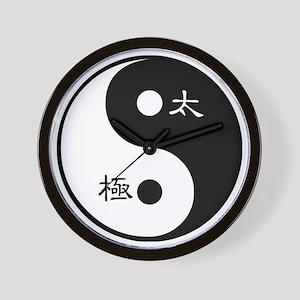 Tai Chi Yin Yang Symbol Wall Clock