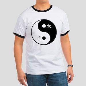 Tai Chi Yin Yang Symbol Ringer T