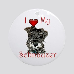 I love my Mini Schnauzer Ornament (Round)