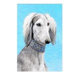 Saluki (Silver and White) Postcards (Package of 8)