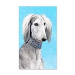 Saluki (Silver and White) 20x12 Wall Decal