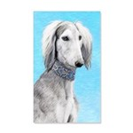 Saluki (Silver and White) 35x21 Wall Decal