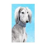 Saluki (Silver and White Sticker (Rectangle 10 pk)